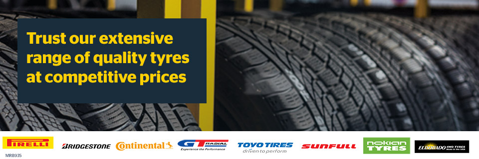 Trust our extensive range of quality tyres at competitive prices